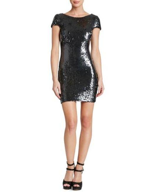 Dress the Population | Gray 'tabitha' Backless Sequin Minidress | Lyst
