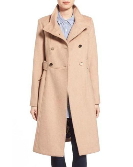 Eliza J   Natural Wool-Blend Military Coat   Lyst