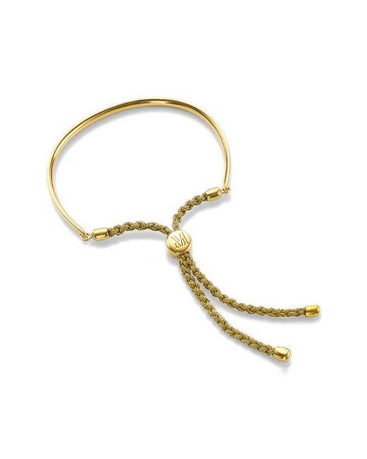 Monica Vinader | Metallic 'fiji' Friendship Bracelet | Lyst