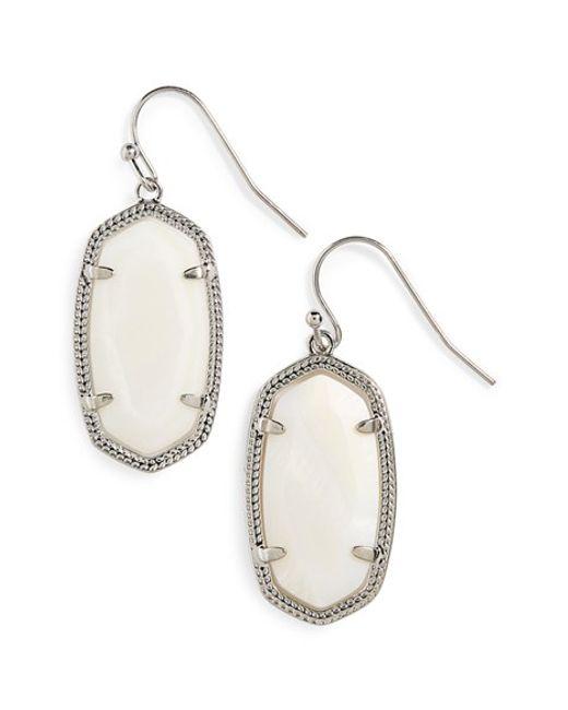 Kendra Scott | White 'dani' Drop Earrings | Lyst