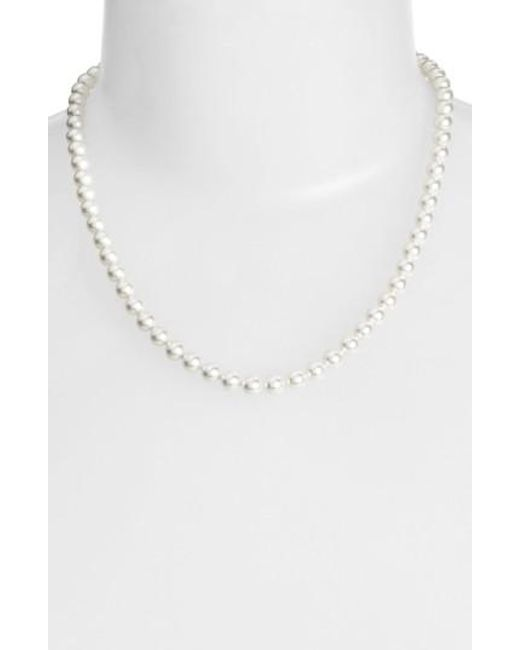 Nadri   White Imitation Pearl Collar Necklace   Lyst