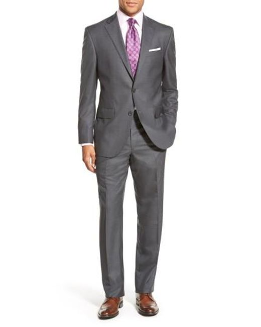 David Donahue | Gray Ryan Classic Fit Solid Wool Suit for Men | Lyst