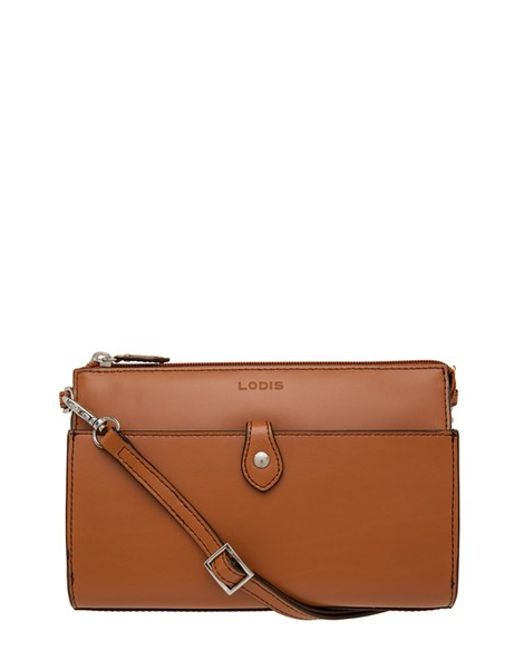 Lodis | Brown Audrey Collection Vicky Leather Cross-Body Bag | Lyst