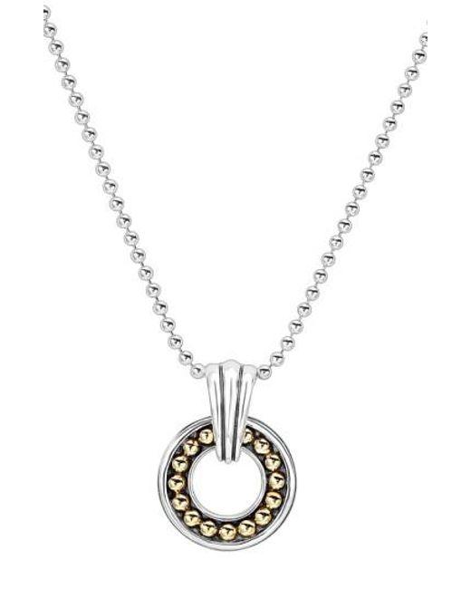 Lagos | Metallic Circle Pendant Necklace | Lyst