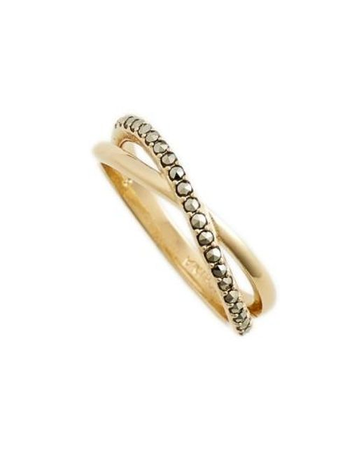 Judith Jack   Metallic Crisscross Ring   Lyst