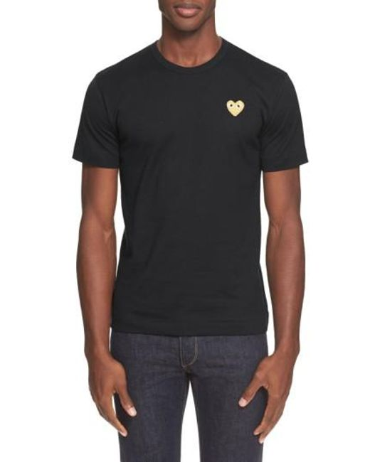 Comme des Garçons | White Play Crewneck T-shirt for Men | Lyst