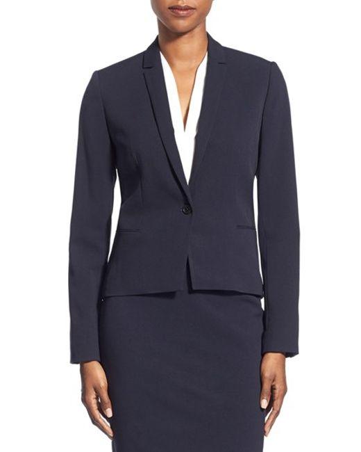 T Tahari | Blue 'carina' Suit Jacket | Lyst