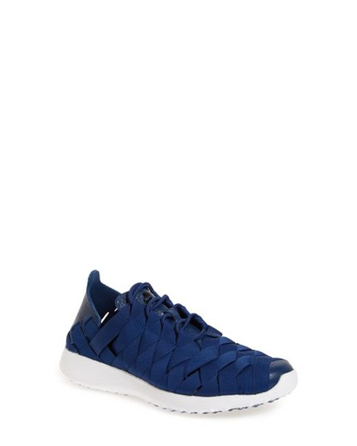 nike 39 juvenate woven 39 trainer in blue lyst. Black Bedroom Furniture Sets. Home Design Ideas