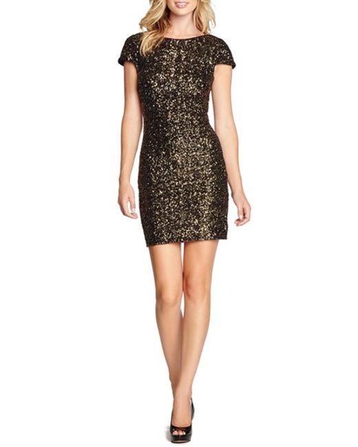 Dress the Population | Metallic Tabitha Sequin Minidress | Lyst