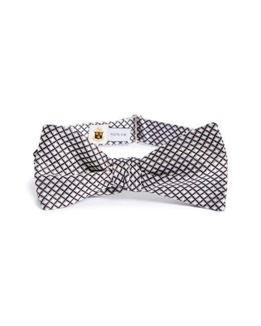 Robert Talbott   Black Paisley Check Bow Tie for Men   Lyst