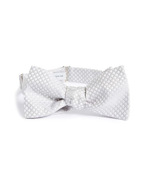 Robert Talbott | Metallic Paisley Check Bow Tie for Men | Lyst