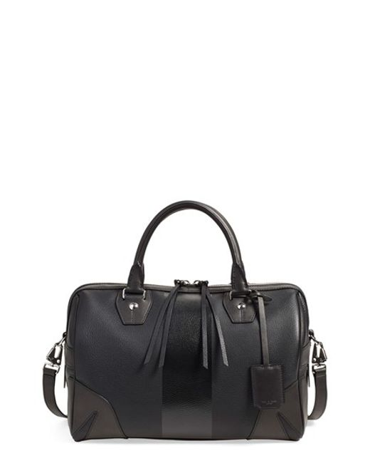 Rag & Bone | Black 'flight' Leather Satchel | Lyst