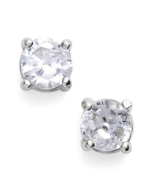 Givenchy | Metallic Crystal Stud Earrings | Lyst