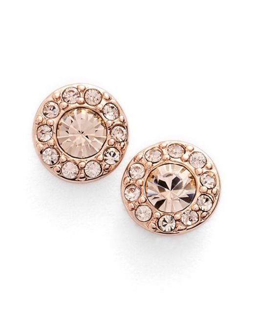 Givenchy | Pink Small Crystal Stud Earrings | Lyst