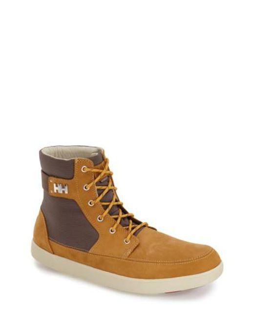 Helly Hansen | Brown 'stockholm' Waterproof High Top Sneaker for Men | Lyst