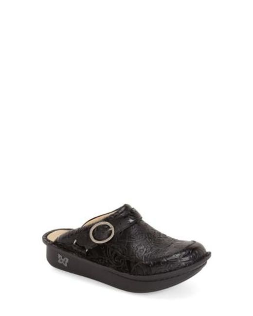 Alegria   Black Seville Water-Resistant Buckled Clogs    Lyst