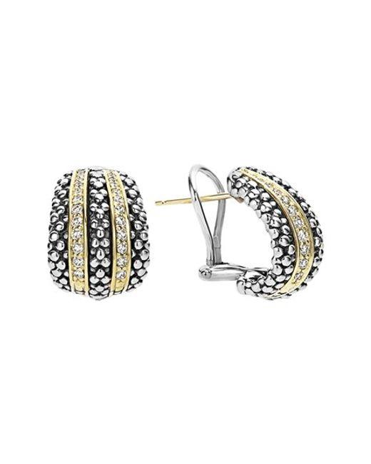 Lagos | Metallic 'caviar' Diamond Stud Earrings | Lyst