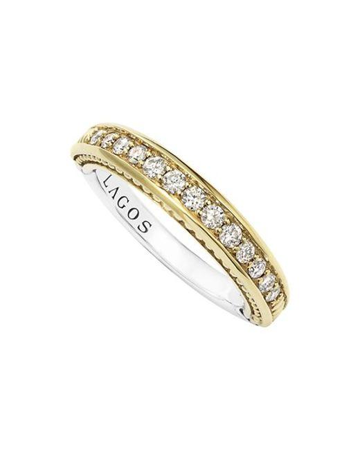 Lagos | Metallic Diamond Channel Stacking Ring | Lyst