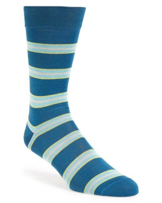 Paul Smith | Blue 'odd Paul' Stripe Socks for Men | Lyst
