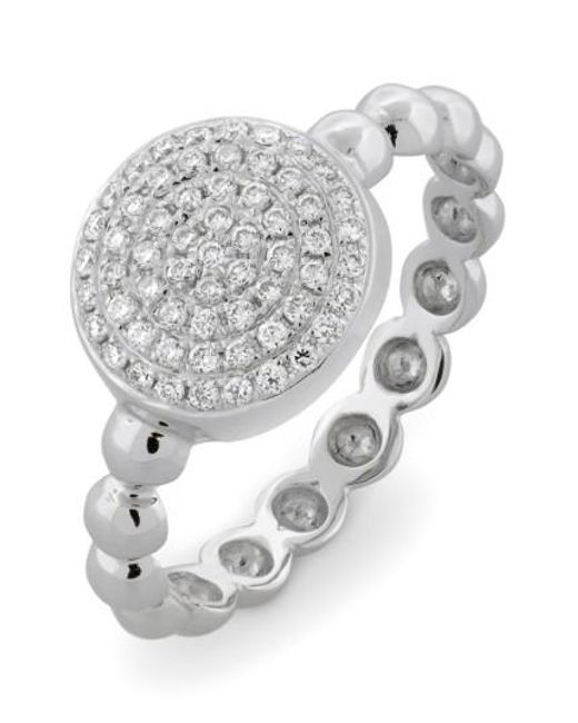 Bony Levy | White Aurora Diamond Pave Circle Ring (nordstrom Exclusive) | Lyst