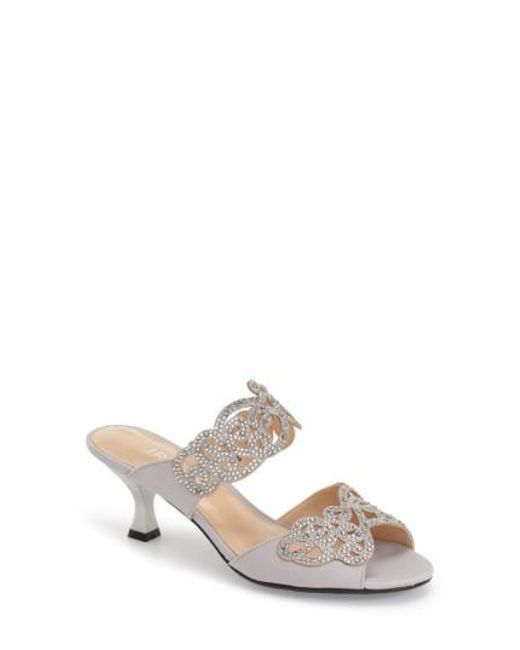 J. Reneé | Metallic 'francie' Evening Sandal | Lyst