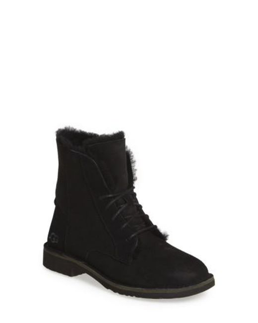 Ugg - Black Quincy Suede Ankle Boots - Lyst