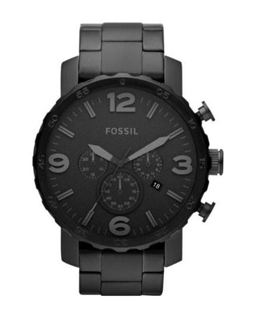 Fossil - Black 'nate' Chronograph Bracelet Watch for Men - Lyst