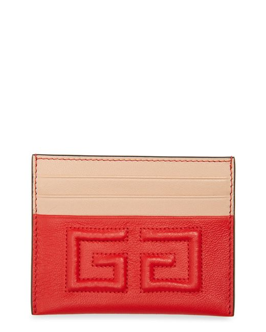Givenchy - Red Emblem Leather Card Case - Lyst