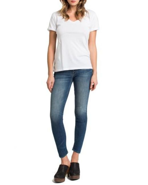 Lamade | White Cotton V-neck Tee | Lyst