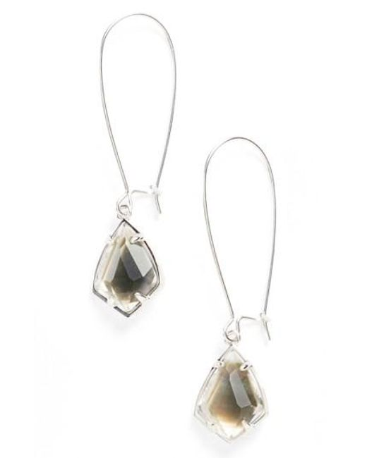 Kendra Scott | Black 'carrine' Semiprecious Stone Drop Earrings | Lyst