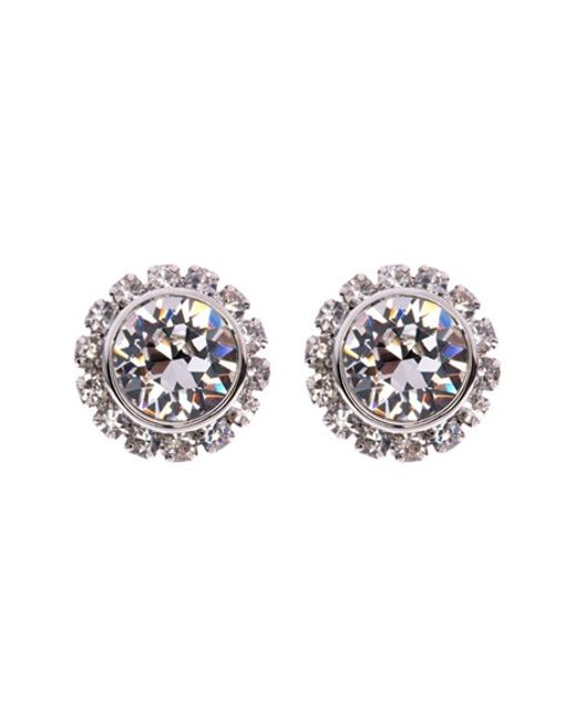 Ted Baker | Metallic Sully Crystal Daisy Stud Earring | Lyst