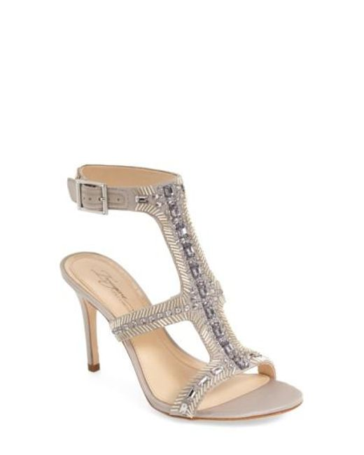Imagine Vince Camuto | Metallic Price Beaded T-strap Sandals | Lyst