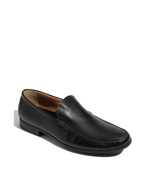 Johnston & Murphy | Black 'creswell' Venetian Slip-on for Men | Lyst