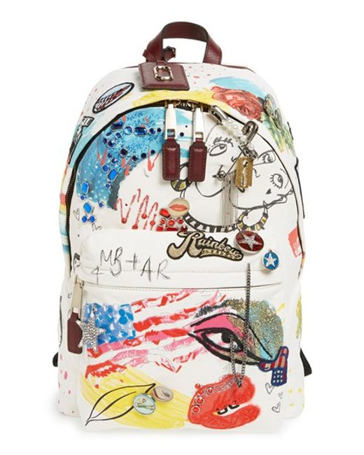 Marc by marc jacobs Marc Jacobs \u0026#39;collage\u0026#39; Canvas Backpack in White ...
