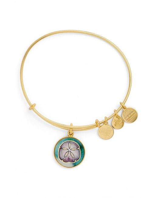 alex and ani charm bracelet in gold lyst