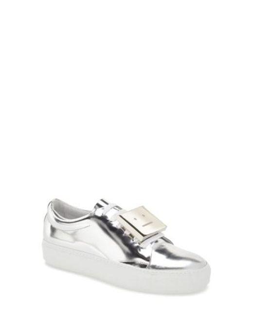 Acne   Multicolor 'adriana' Silver Metallic Sneaker   Lyst