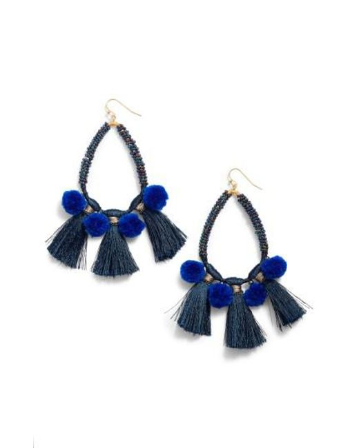 Nakamol | Blue Babak Teardrop Tassel Earrings | Lyst