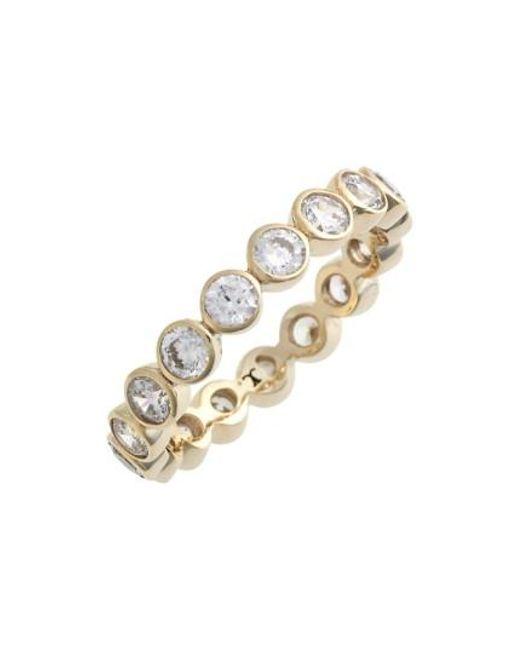 Judith Jack | Metallic Stackable Cubic Zirconia Bezel Ring | Lyst