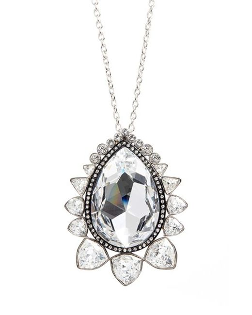 St. John | Metallic Jeweled Necklace | Lyst