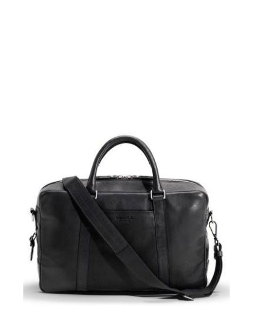 Shinola - Black Leather Briefcase - Lyst
