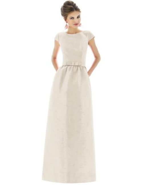 Alfred Sung | Metallic Cap-Sleeve Dupioni Full-Length Dress | Lyst