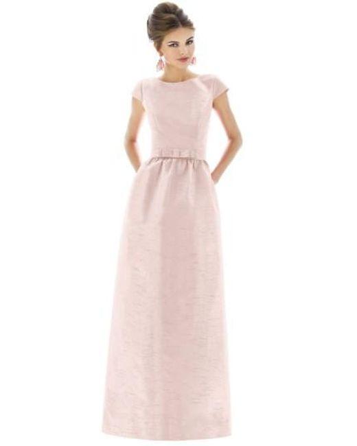 Alfred Sung   White Cap-Sleeved Dupioni Full-Length Dress   Lyst