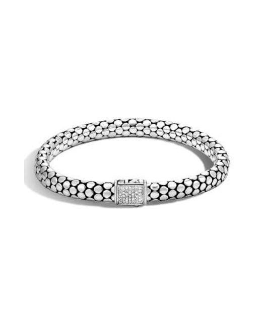 John Hardy | Metallic 'dot' Small Diamond Bracelet | Lyst