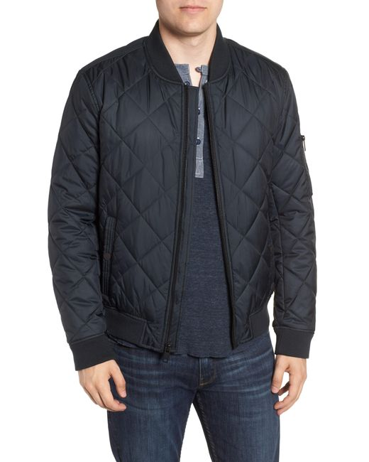 Marc New York - Blue By Andrew Marc Fletcher Quilted Bomber Jacket for Men - Lyst