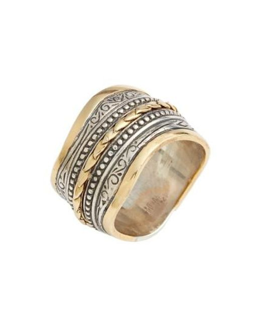 Konstantino | Metallic 'hebe' Wavy Etched Band Ring | Lyst