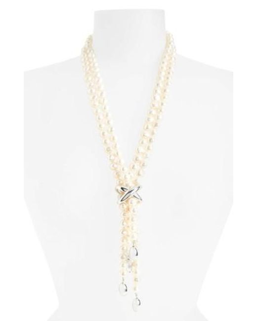 Simon Sebbag | White Freshwater Pearl Y-necklace | Lyst
