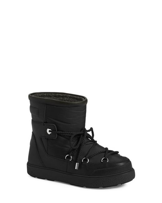 Moncler | Black 'new Fanny' Lace Up Ankle Boot | Lyst