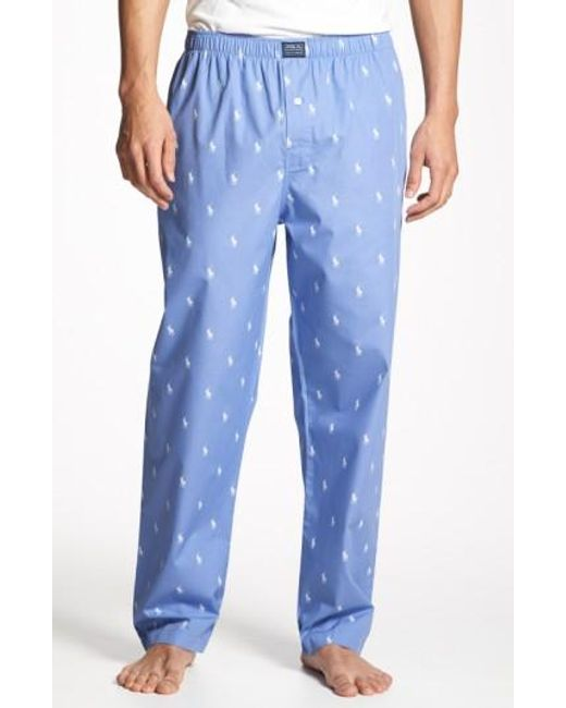 Polo Ralph Lauren | Blue Cotton Lounge Pants for Men | Lyst