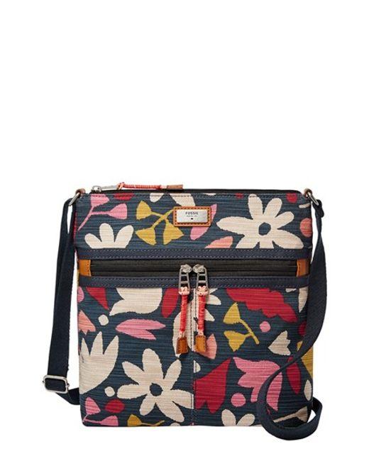 Fossil U0026#39;blakeu0026#39; Canvas Crossbody Bag In Floral (BLAKE FLORAL) | Lyst