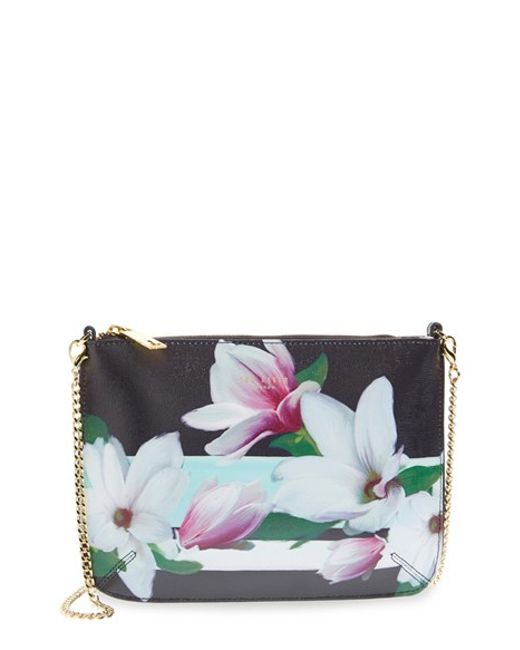Ted Baker Cyra Magnolia Stripe Cross-Body Bag In Floral (BLUE) | Lyst